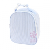 Baby Blue Seersucker Gumdrop Lunch Box