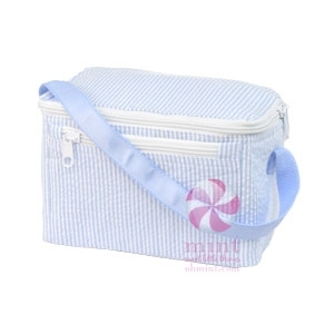 Baby Blue Seersucker Lunch Box