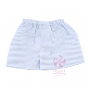 Baby Blue Seersucker Shorts