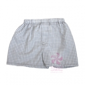 Grey Gingham Shorts