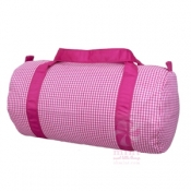 Hot Pink Gingham Duffel