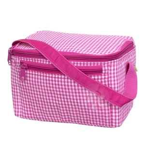 Hot Pink Gingham Lunch Box