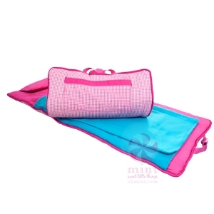 Hot Pink Gingham Nap Mat