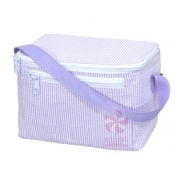 Lilac Seersucker Lunch Box