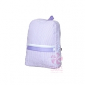 Lilac Seersucker Small Backpack