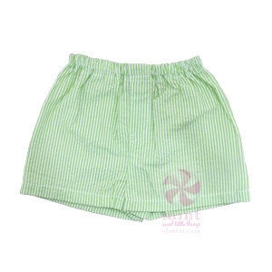 Lime Seersucker Shorts
