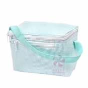 Mint Seersucker Lunch Box