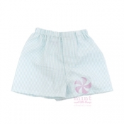 Mint Seersucker Shorts