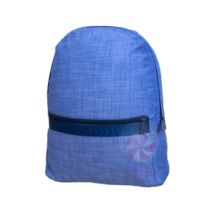Navy Chambray Medium Backpack