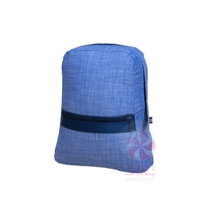 Navy Chambray Small Backpack  f83c8c131ca87
