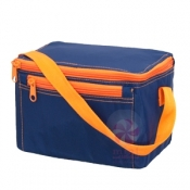 Navy + Orange Lunch Box