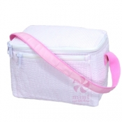 Pink Seersucker Lunch Box