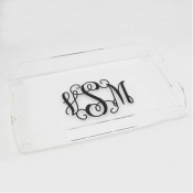 Monogrammed Acrylic Rectangle Tray
