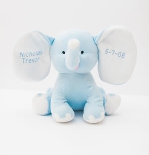 Large Monogrammed Plush Elephants