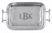 Monogrammed Classic Serving Tray with Handles