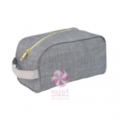 Grey Chambray Traveler Bag