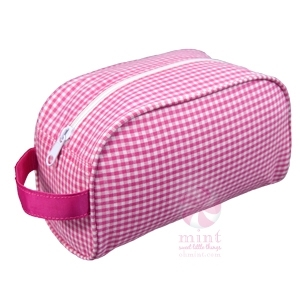 Hot Pink Gingham Traveler Bag