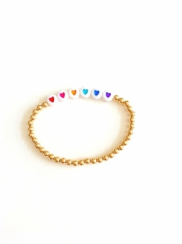 Kids Rainbow Hope Stretch Bracelet